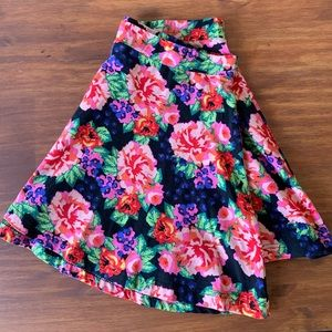 Rue21 Floral Print Fit & Flare Skirt Size Large
